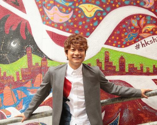 香取慎吾さん、香港で何してるの? あっストリート・アートね!