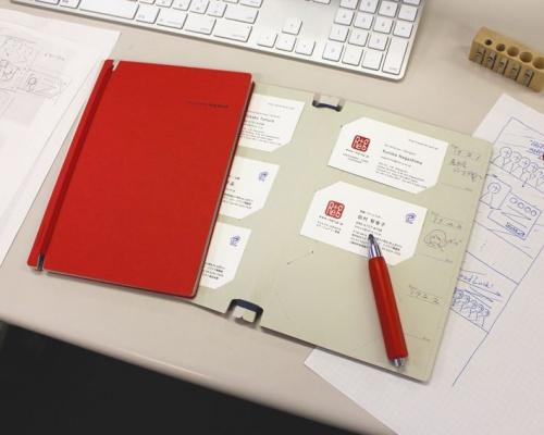 アイデアの勝利「Log book(赤)」メモできる名刺ファイル