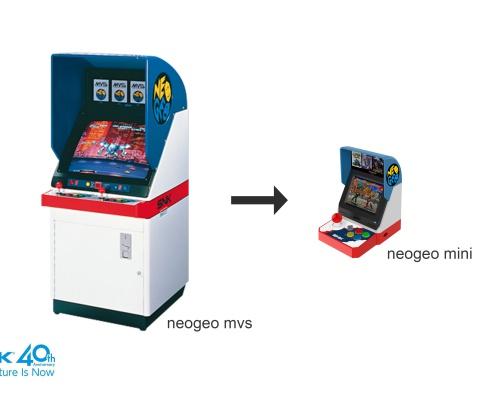SNKブランド40周年を記念したゲーム機「NEOGEO mini」発表!