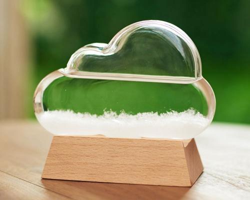 天気や気温の変化を目で楽しむ「ストームグラスクラウド」