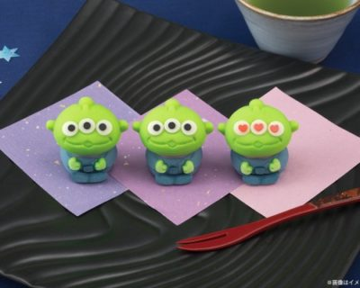 トイ・ストーリーのエイリアンが和菓子に登場!ファンじゃないけどこれは買うわ。