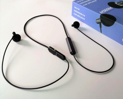 耳に入れるイヤースピーカー「INAIR M360bt」そう、スピーカーを耳に入れるんです!