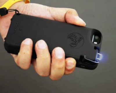護身用スタンガン機能付きiPhoneケース「Yellow Jacket case」スマホケースで身を守る