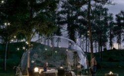 那須ハイランドパークで開放的なキャンプ「透明グランピングAURA(アウラ)」