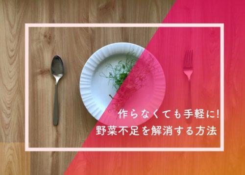野菜不足を解消する手軽でラクな方法!一人暮らしで野菜不足になりがちな人に